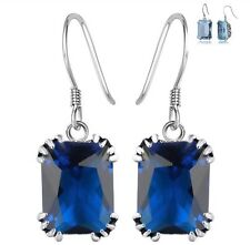925 Sterling Silver Sapphire Earrings Natural Sapphire Gemstone