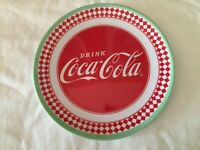 "New ""Drink Coca Cola"" Melamine Gibson 10.5 Dinner Plate NWT Collectable  Coke"