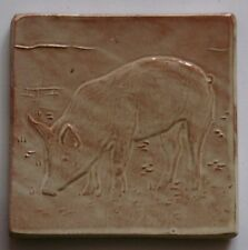 pig tile, low relief tile, handmade, farmhouse kitchen, by Helen Baron