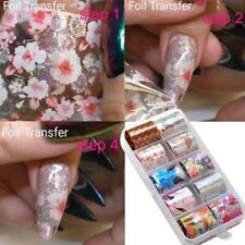 Flower Transfer Manicure Decor Nail Foil Nail Art Stickers Holographic Decals US