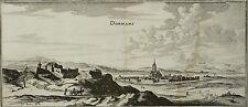 DORMANS Gesamtansicht - Merian - Kupferstich 1654