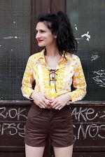 Jean Paul Bluse Shirt Oberteil blouse 70er True VINTAGE 70´s BOHO Hippie selten