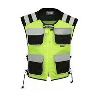 Mens Hi Vest Motorbike Waterproof Motorcycle Hi Vis Waistcoat Hi Viz New
