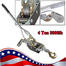 4 Ton 8000lb Hand Puller Cable Winch Puller Pulling Hand Powerful Winch Hoist Us