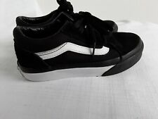 Childrens Black And White Vans Size 12