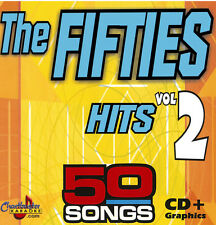 5034 The Fifties Hits vol-2 Karaoke CHARTBUSTER 3 CDG Disc Set twith Song List