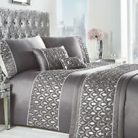 Crystal Charcoal Sequin Duvet Set Bedding Range