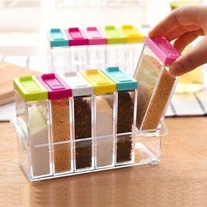 Spice Jar Seasoning Box Kitchen Storage Bottle Transparent PP Pepper Powder Tool