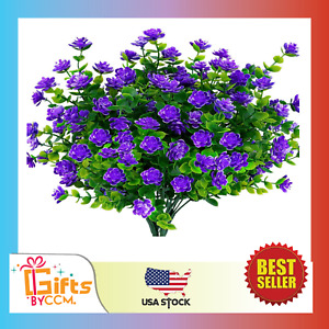 Artificial Flowers Fake Outdoor UV Resistant Boxwood Shrubs Faux Plastic NEW