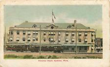 SPOKANE WA TERMINAL RAILROAD DEPOT/STATION 1911 POSTCARD