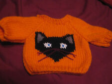 Halloween Black Cat Sweater Customized Handmade for 18 inch American Girl Doll