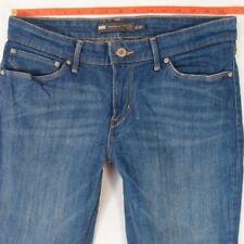Femme Levis Demi Curve Skinny Stretch Blue Jeans W31 L30 UK Taille 12