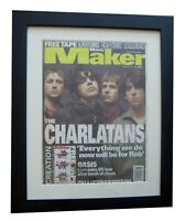 THE CHARLATANS+MELODY MAKER 1996+POSTER+AD+FRAMED+RARE ORIGINAL+FAST GLOBAL SHIP
