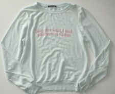 Wildfox Sorry For What I Said When It Was Winter Baggy Beach Jumper BBJ M NEW