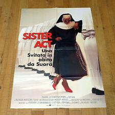 SISTER ACT UNA SVITATA IN ABITO DA SUORA manifesto poster Whoopi Goldberg 1992