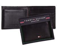 Geniune New Tommy Hilfiger Black Leather Mens Stockton Billfold Wallet GIFT BOX