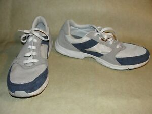 ROCKPORT Navy Blue & Gray Adiprene Mens 12 Shoes Sneakers Low Leather