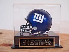 Mini Helmet Case With An Eli Manning New York Giants Engraved Nameplate