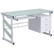 Flash Furniture White Computer Desk w/Three Drawer Pedestal Nan-Wk-017-Gg New