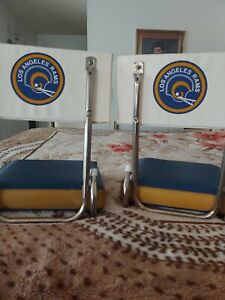 Set of  Vintage LA RAMS Stadium Bench Seat Chair NFLAuthentic KIMBERLY 50'S 60'S