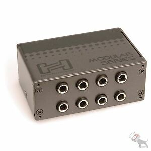 Hosa MHB-350 Patch Bay Module 8-Point 1/4 in TRS to Same Half-Normalled