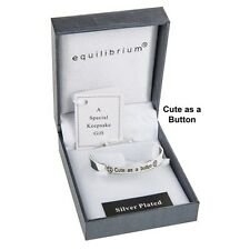 bracelet Equilibrium cute as a button baby Bangle present sentiment gift