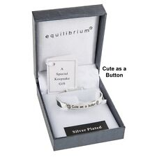bracelet Equilibrium cute as a button baby Bangle present sentiment gift