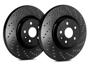 SP Performance Rear Rotors for 2012 TIGUAN  | Drilled Black Zinc C58-426-BP3177