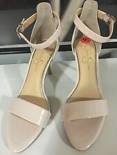 Jessica Simpson Shiny cream patent Strappy ankle strap Sandal sz 9.5 new