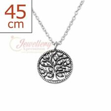 925 Silver Tree Of Life Necklace With Cubic Zirconia