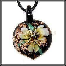 2016 New heart lampwork Murano art glass beaded pendant necklace BB171