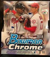 2018 Bowman Chrome Baseball Hobby Box - Factory Sealed - 2 Autos