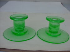 New ListingVintage Pair Of Green Candle Holders
