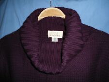 Pull violet manches longues et col large T38-40 marque 123
