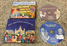 """(2) CD LOT Putumayo """"Music from Wine Lands"""" & """"New Orleans Christmas"""" VG to VG+"""