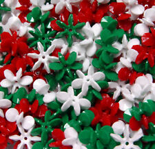 Christmas Holiday Mix 18mm Starflake Sunburst Craft Beads 150pc Made in the USA