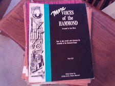 arr. Ellson: More Voices of the Hammond, Organ, Hammond Registrations (Pointer)