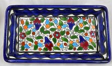 Ceramic Tray Armenian Colorful Pottery Handmade Painted Flowers house Gift