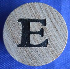 WordSearch Letter E Tile Replacement Wooden Round Game Piece Part 1988 Pressman