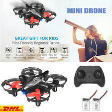 Mini Drohne für Kinder Anfänger RC Quadrocopter Drone Mit 2 Akkus Helikopter DHL