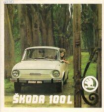 Skoda S100 L Saloon 1972 UK Market Sales Brochure