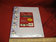 Ampad Regal Mills 35946 Christmas Snowman Foil Printer Letterhead 40 Count