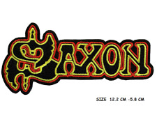 SAXON Iron On Sew On Embroidered Patch Punk Rock