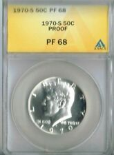 1970-S 50C Proof Kennedy Half Dollar ANACS PF 68