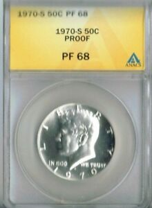 1970-S 50C Proof Kennedy Half Dollar ANACS PF 68