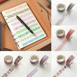 1Roll Adhesive Scrapbooking Paper Washi Tape Masking Tape Sticker DIY Decoration