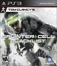 Tom Clancy's Splinter Cell Blacklist PS3 NEW! WAR ASSAULT, TERROR, ATTACK COMBAT