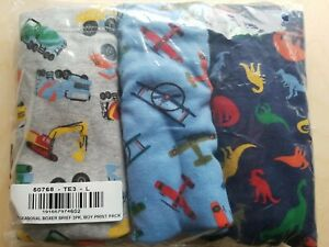 NWT Hanna Andersson Unders Boxer Briefs DINO PLANE TRUCKS LARGE  L 140 150 10 12