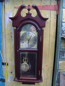 """wall clock  PRESIDENT  LARGE  CLOCK  TIME PIECE  35"""" LONG  + INSTRUCTIONS"""