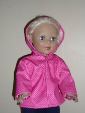 """Pink Dotted Rain Jacket for 18"""" Doll Clothes American Girl"""